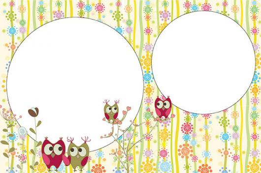 festa da corujinha convite colorido