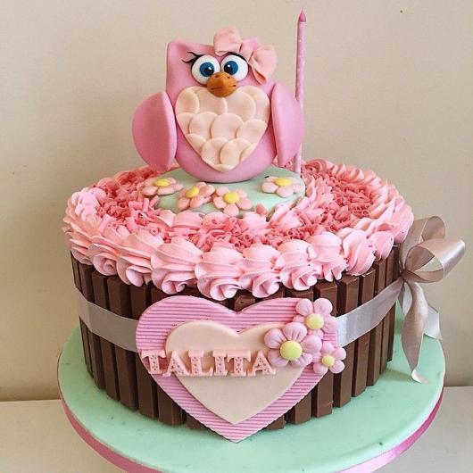 festa da corujinha bolo kit cat