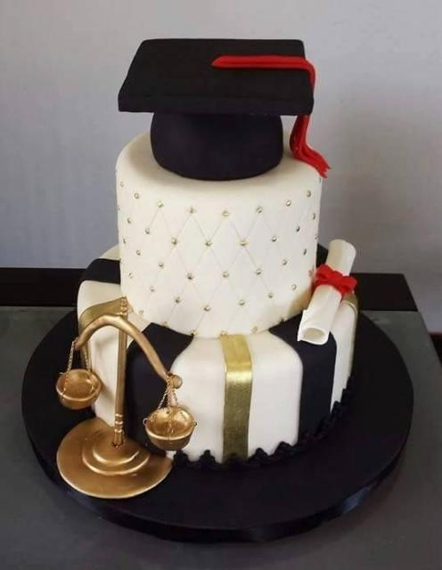 Festa de formatura bolo Assistência Social