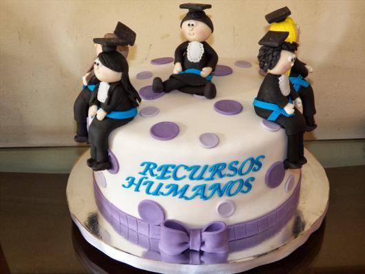 Festa de formatura bolo Recursos Humanos