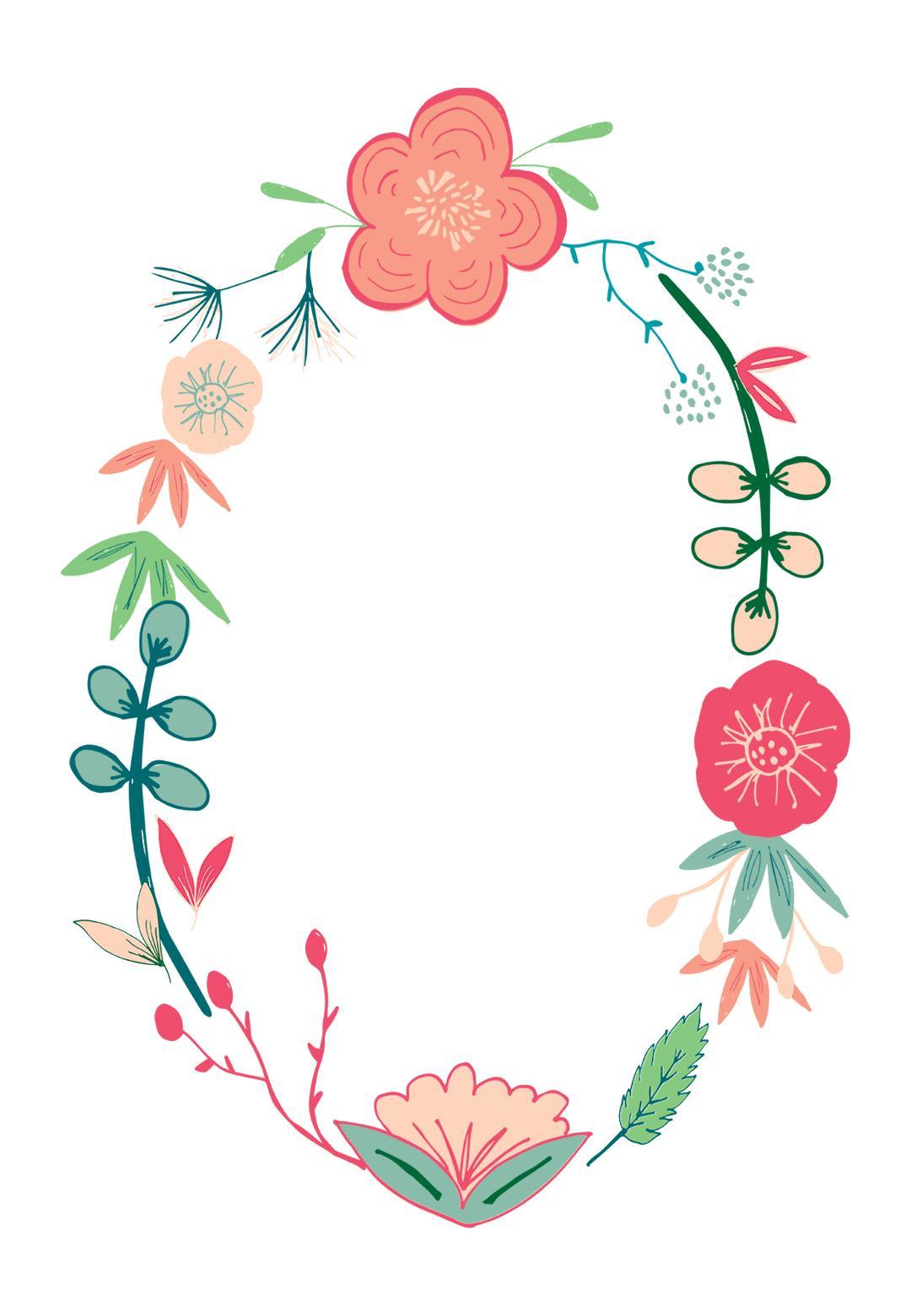 convite grátis flores