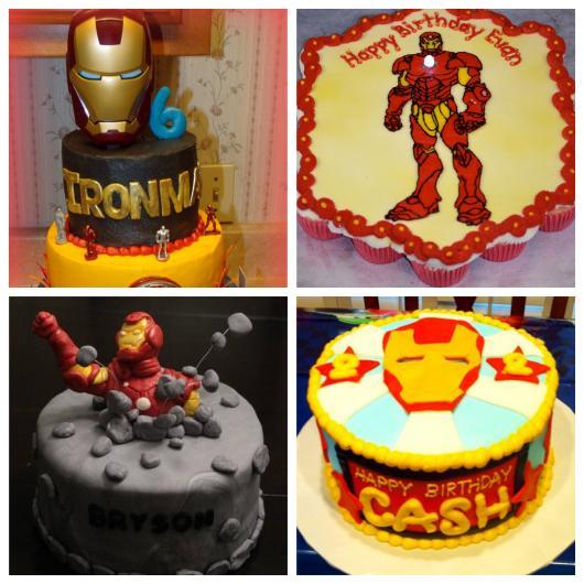 60 modelos perfeitos de bolo do Homem de Ferro