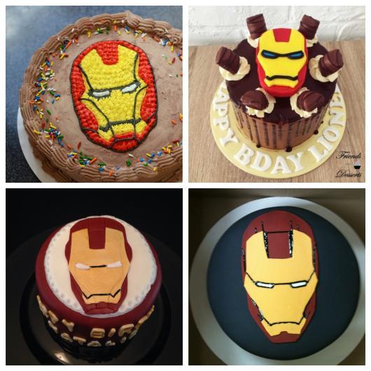Seja de chocolate, branco ou qualquer outro padrão: que tal inovar no bolo do Iron Man?