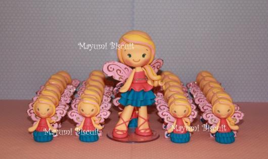 Lembrancinha da Barbie miniatura de biscuit