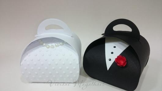 Lembrancinha de Casamento em EVA: embalagem para bem casado