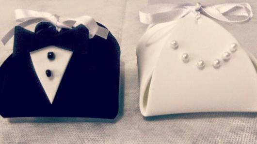Lembrancinha de Casamento em EVA: embalagem para doce