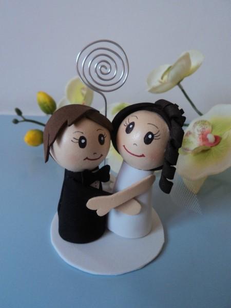 Lembrancinha de Casamento em EVA: casal de noivos