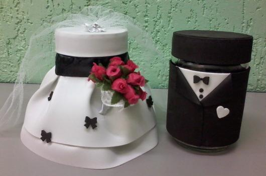 Lembrancinha de Casamento em EVA: potes decorados