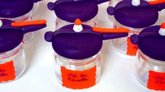 Lembrancinha de Chá de Panela de EVA: panela de pressão