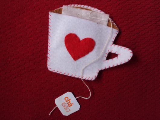Lembrancinha de Chá de Panela de feltro: xícara