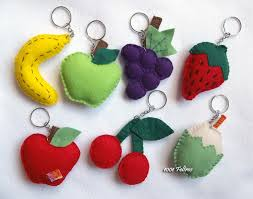 Lembrancinha de Chá de Panela de feltro: frutinhas