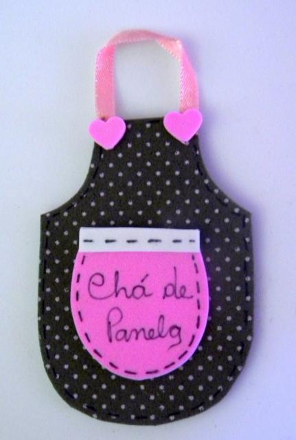 Lembrancinha de Chá de Panela de EVA: avental