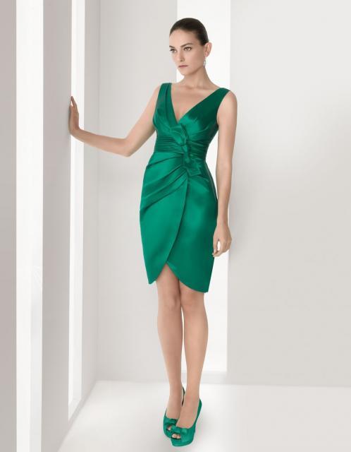 Vestido de Formatura Verde transpassado