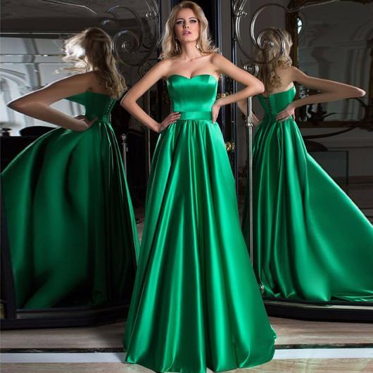 vestido de formatura verde esmeralda longo