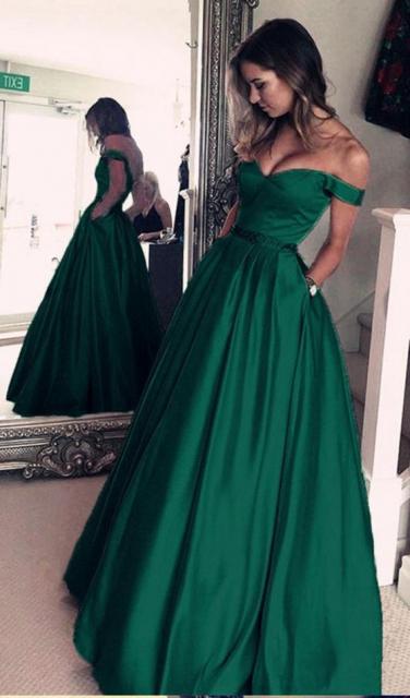 Vestido formatura verde musgo