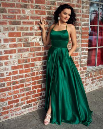 vestido de formatura verde alcinha verde musgo
