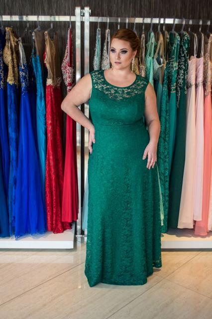 vestido de formatura verde moda tamanho GG