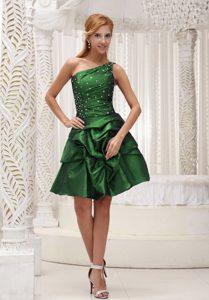 Vestido de Formatura Verde com saia de camadas