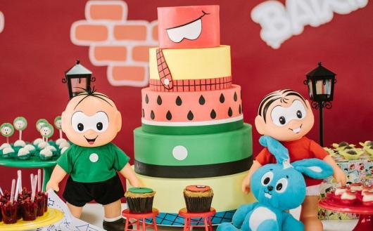 Faça um bolo assim: com referência aos principais personagens da Turma da Mônica