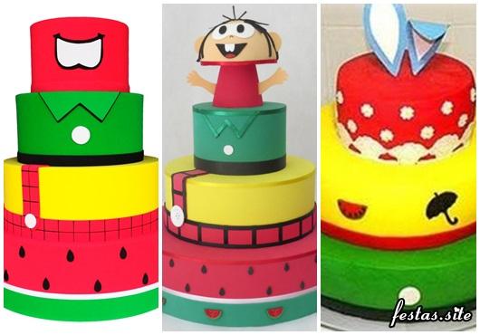 Três opções incríveis de bolos cenográficos da turma da Mônica