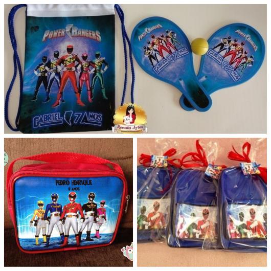 Um kit bolsa com raquete e bolinha, uma bolsinha para carregar itens de higiene para a escola e uma mini mochila prática e multifuncional