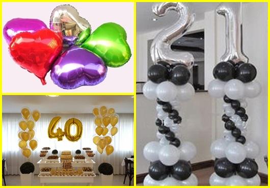 Balão de gás hélio inspirações