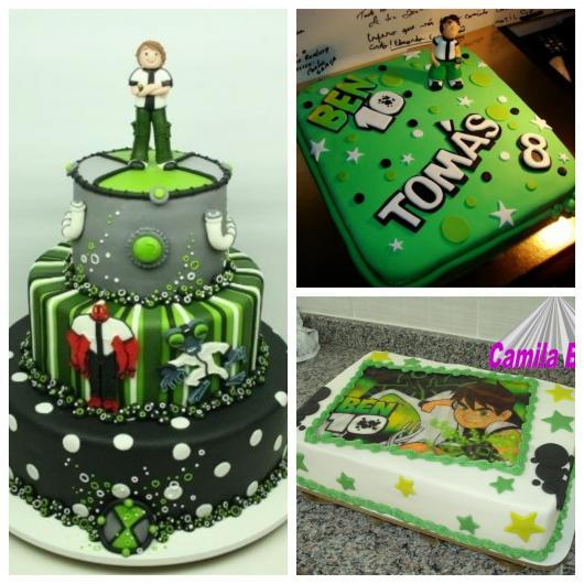 São várias versões do bolo do Ben 10 para todos os gostos e tipos de festas