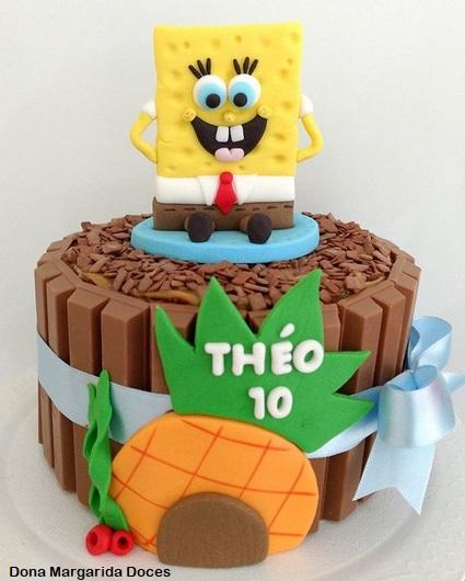 bolo pequeno KitKat