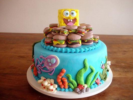 bolo redondo fundo do mar