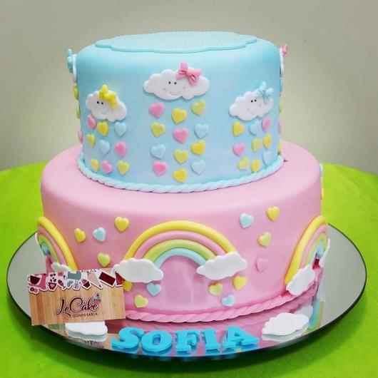 fotos de bolo fake chuva de amor