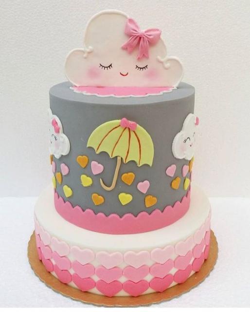 bolo fake chuva de amor com base em eva
