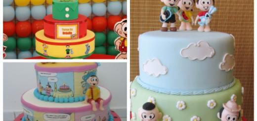 Conheça diversas ideias lindas de bolos cenográficos de Turma da Mônica