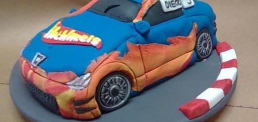 E esse bolo em formato de carro, que tal?