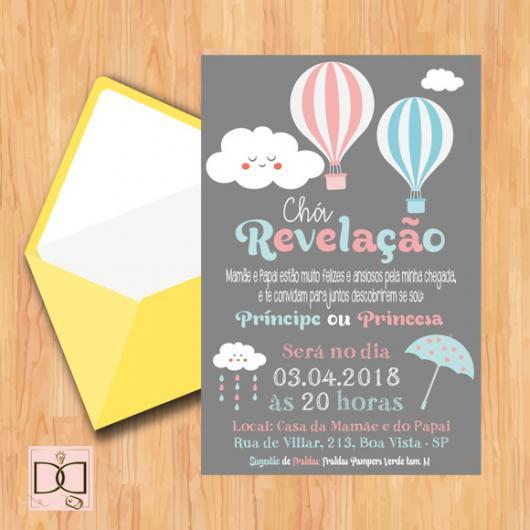 Convite Chá Revelação 44 Ideias Fofas Modelos Para Imprimir