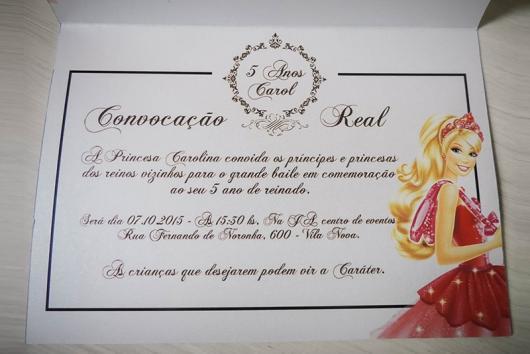 Transforme o convite da Barbie Princesa em uma convocação real