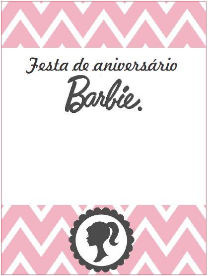 Modelo de convite da Barbie Paris para você imprimir