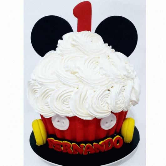 cupcake do Mickey também é uma opção para aniversários de 1 ano