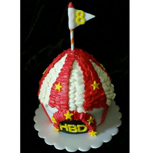Decoração de cupcake para o tema circo