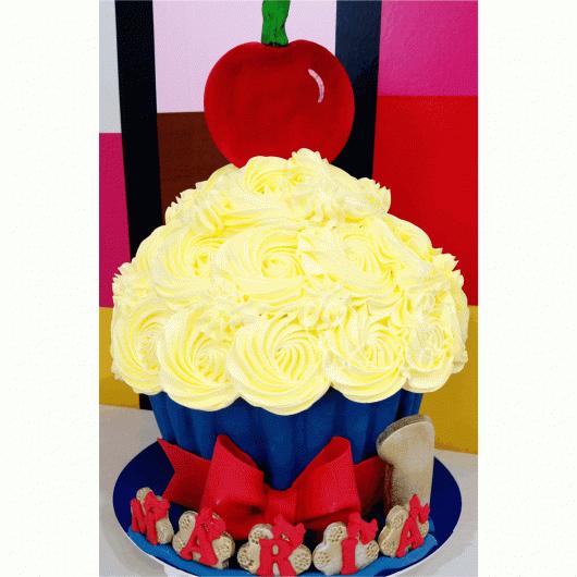 cupcake gigante Branca de Neve