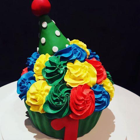 Decoração divertida de cupcake Circo gigante