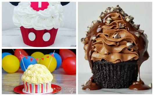 ideias sensacionais de cupcakes gigantes