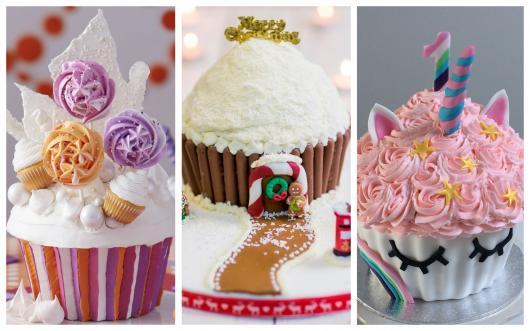 cupcakes gigantes inspirados em temas específicos