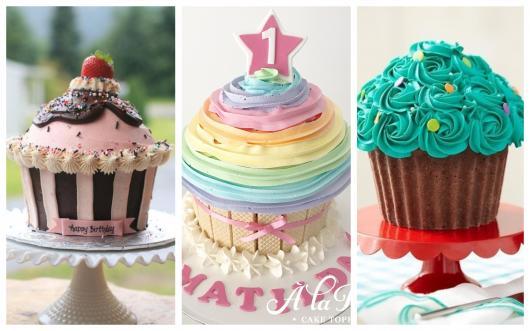 formas incríveis de decorar os cupcakes gigantes