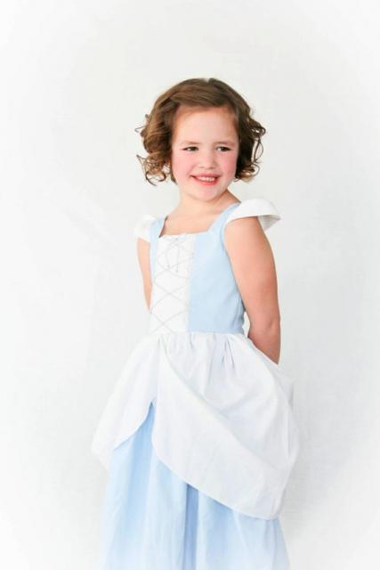 vestido princesa simples
