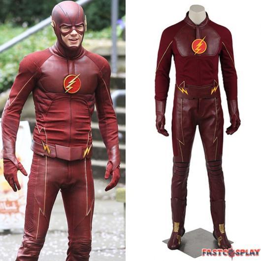 O tom de vermelho oscila conforme a fantasia do Flash