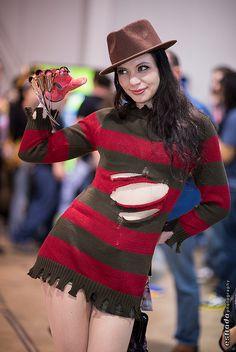 O vestido é uma boa opção para compor essa fantasia de terror