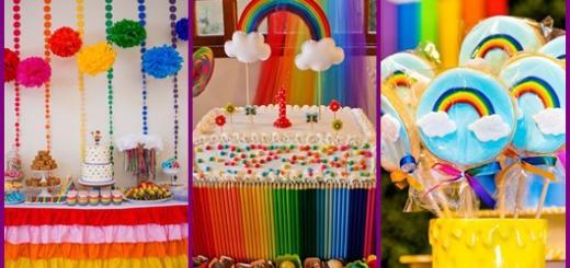 Inspirações para festa arco-íris