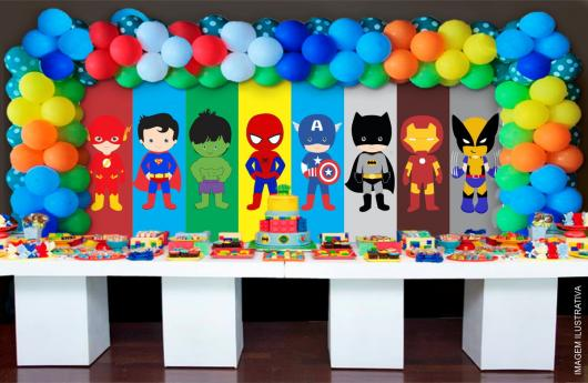 Festa Super Heróis Como Decorar Com 70 Inspirações Incríveis