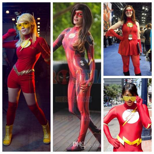 Os modelos de fantasia do Flash feminina são bem versáteis e dinâmicos