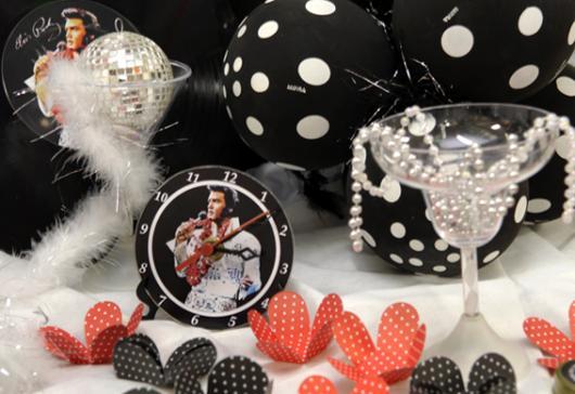 Relógio personalizado com a figura de Elvis Presley